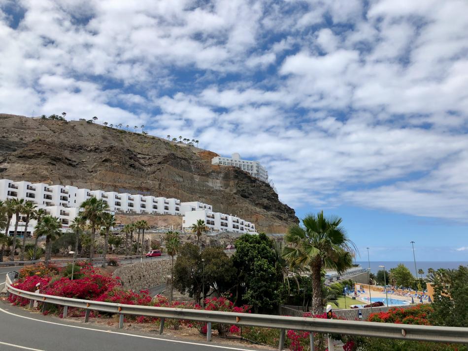 Appartementen bij het Amadores strand in Gran Canaria