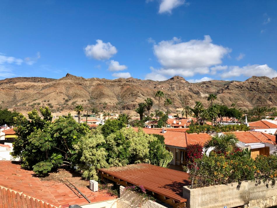 Huizen in een woonwijk van de vallei van Tauro Gran Canaria