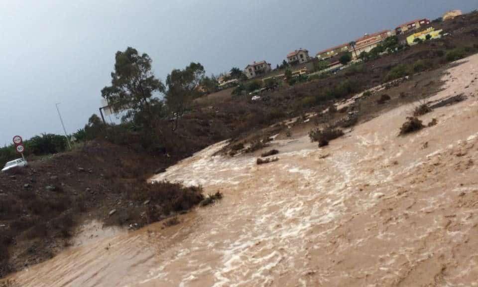 Emigreren Gran Canaria - Slecht weer op Gran Canaria - regen en wind op komst - Overstromingen op Gran Canaria