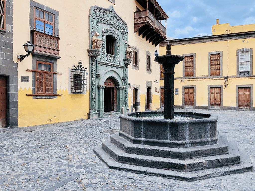 Rondstruinen in Vegueta de Historische wijk in Las Palmas Casa Colon