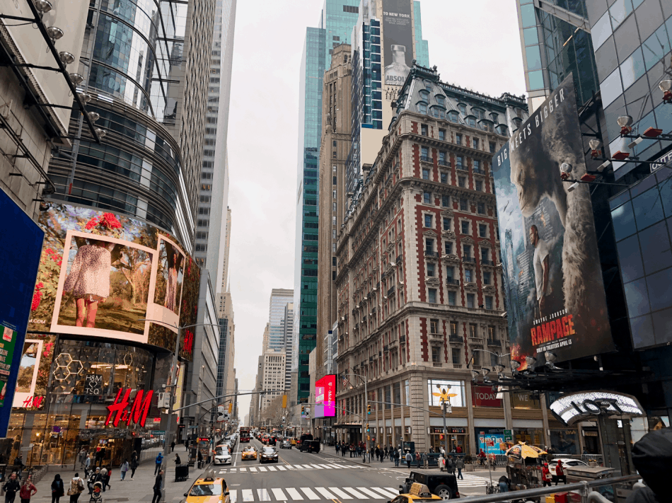 Emigreren Gran Canaria - Reisverslag - Hoogtepunten van NYC - Amerika reis deel 3 - Hop on Hop off bus New York Times Square