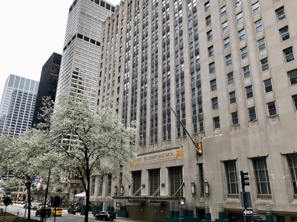 Emigreren Gran Canaria - Reisverslag - Hoogtepunten van NYC - Amerika reis deel 3 - The Waldorf Astoria Hotel New York