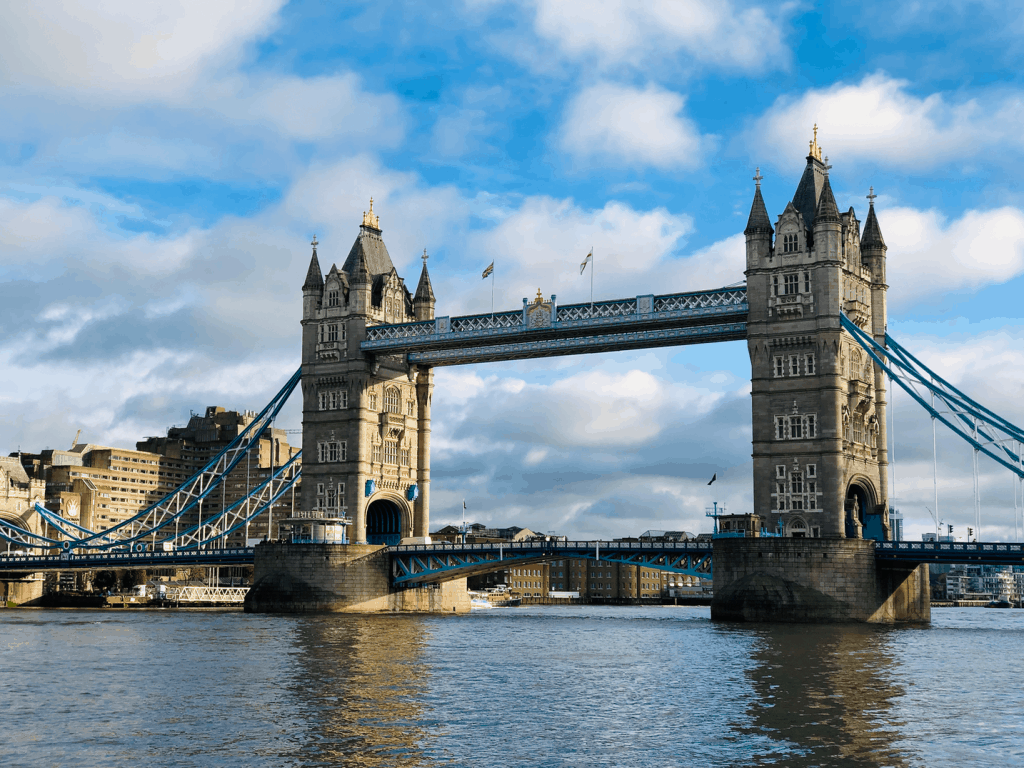 Tower Bridge in Londen tijdens de kerst periode