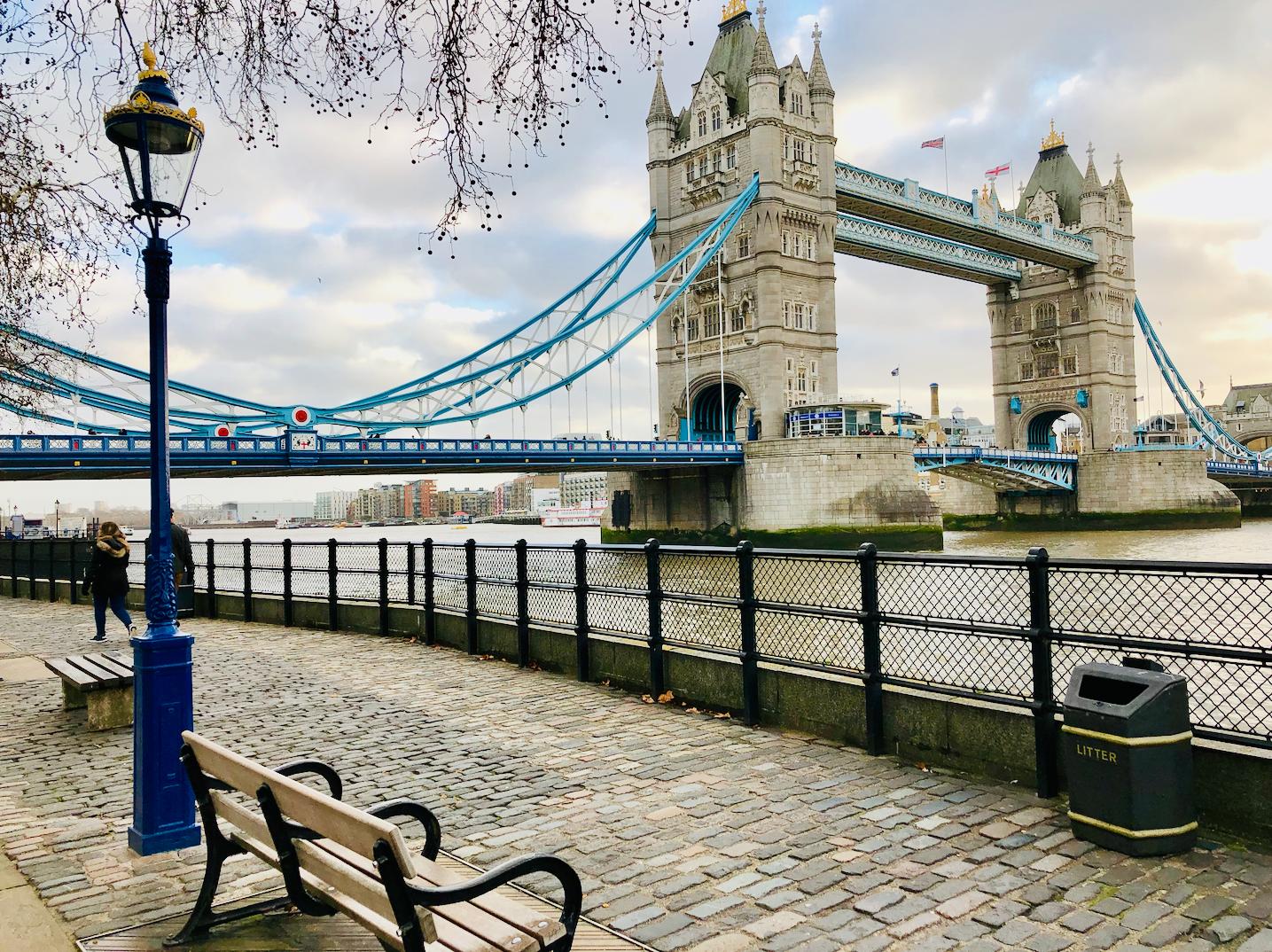 Theems rivier en Tower Bridge gratis attracties in Londen