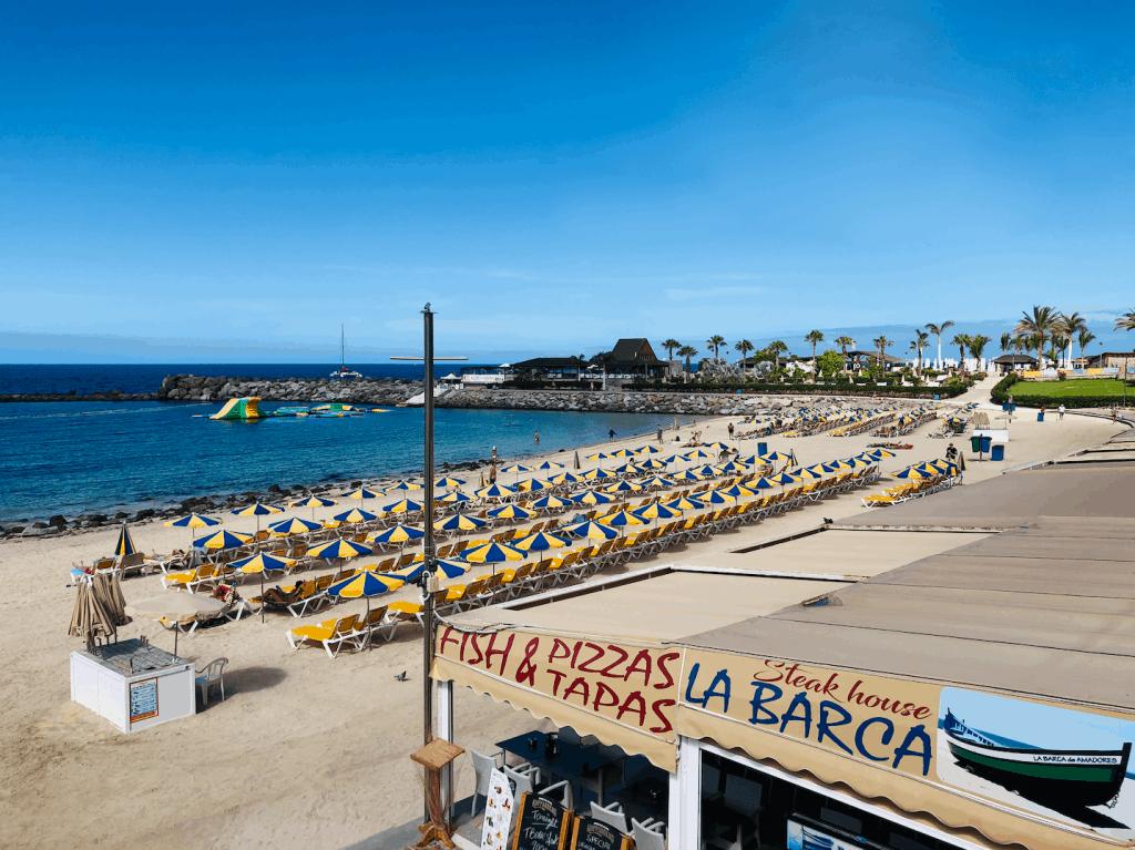 Restaurants bij Amadores strand op Gran Canaria