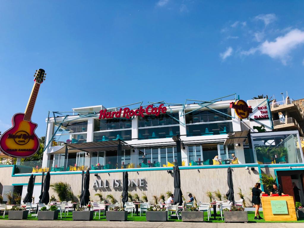 Eten bij Hard Rock Cafe in Playa del Inglés