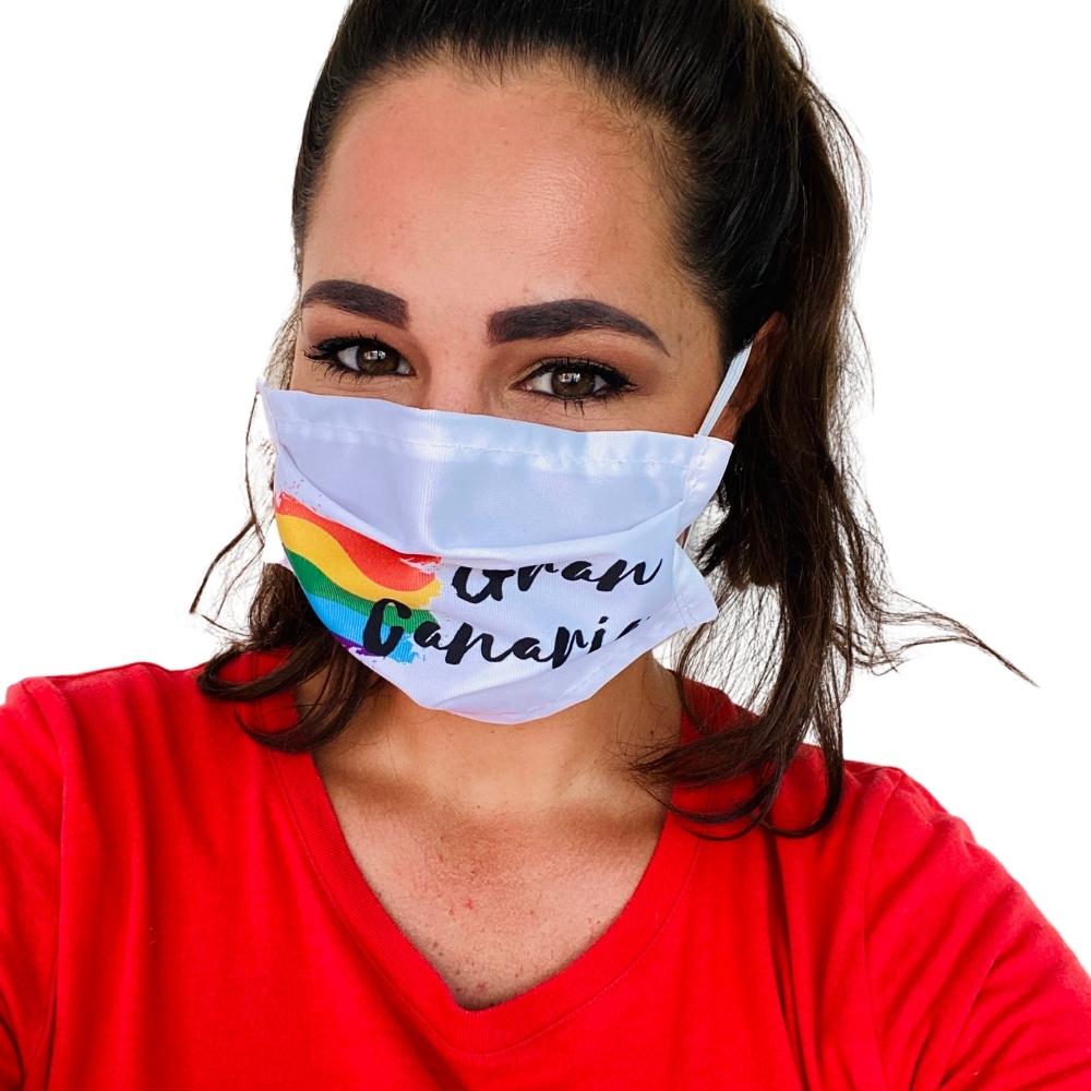 Gran Canaria regenboog mondkapje Melissa