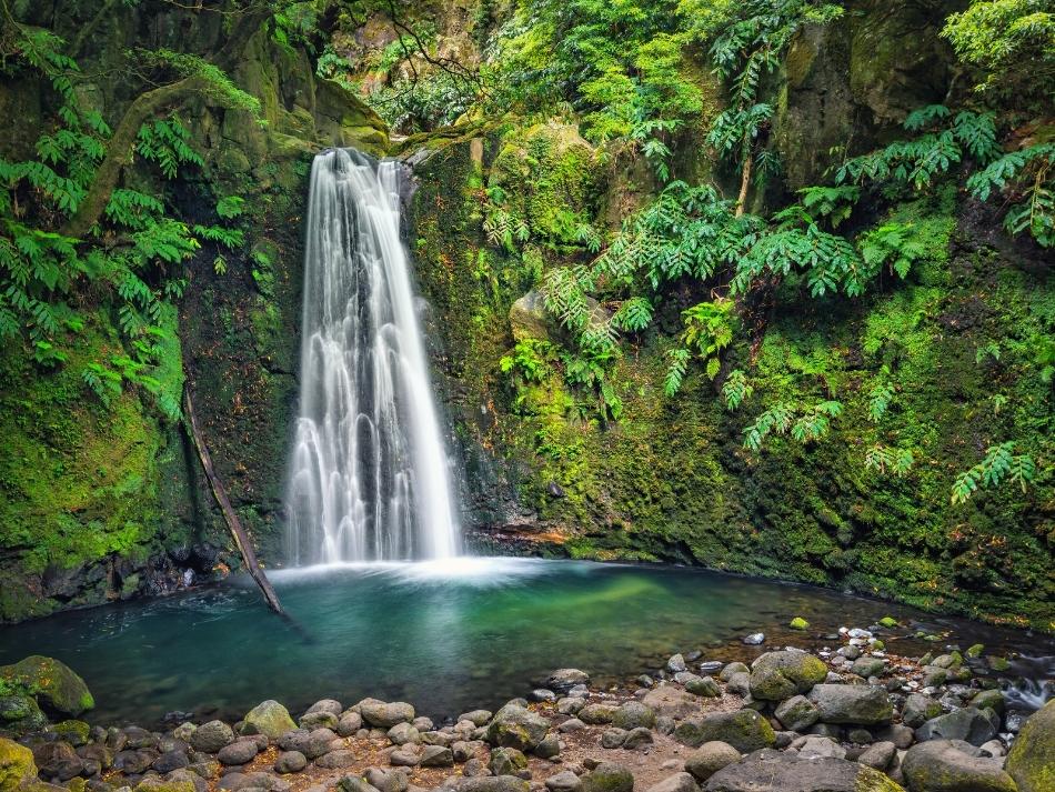 Waterval in de bergen van gran canaria